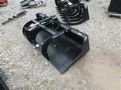 "Unused 2014 Versatech 66"" Grapple Bucket Skid Steer Attachment"