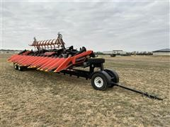 2017 Geringhoff Patriot NS 1800FB Corn Head W/2017 Harvest Ag AH-632HD Header Trailer