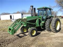 1976 John Deere 4430 2WD Tractor W/Duals & JD 158 Loader & Attachments