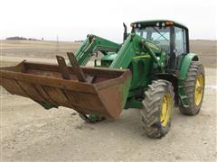 2004 John Deere 7520 MFWD Tractor W/Loader