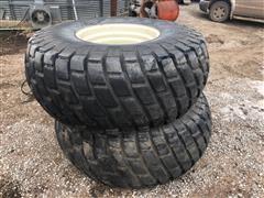 Armstrong 23.1x26 Diamond Tread Tires On Rims