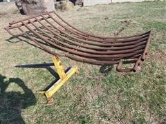 Farm Star 3-Pt Bale Spear & (2) Half-Moon Fence Panels