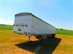 1986 Timpte T/A Aluminum Double Hopper Grain Trailer