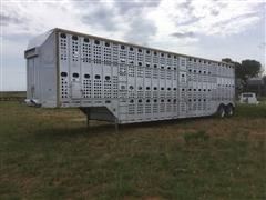 """1995 Merritt Gold Line T/A 48 X102"""" Livestock Trailer"""