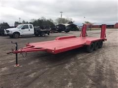 1990 Homemade Tri/A  Flatbed Implement Trailer