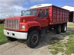 1992 GMC TopKick S/A Grain Truck W/Pusher Axle