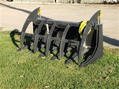 """2020 Mid-State 60"""" Heavy Duty Brush Grapple Skid Steer Attachment"""