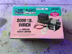 Chicago Electric 95912 3,000 Lb Winch