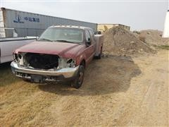 2001 Ford F350 Dually Crew Cab Utility Truck (FOR PARTS ONLY)