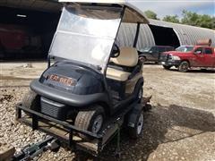 2013 Club Car Electric Golf Cart & Trailer