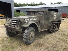 1945 White M2 Half Track Armored Military Vehicle