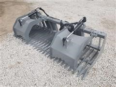 2020 Hawz Skid Steer Mount Rock And Brush Grapple