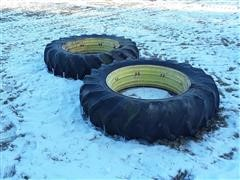 John Deere Double Bevel Rims & 16.9-38 Tires