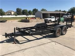 1997 H & H 16' T/A Flatbed Trailer Frame W/ Loading Ramps