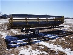 New Holland 24 DC 24' Platform Head W/Hart Carrier