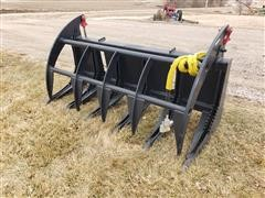2019 Mid States Heavy Duty Brush Grapple Skid Steer Attachment