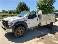 2005 Ford F550 XL Super Duty Utility Pickup W/ Stainless Body