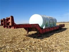 1977 Muv-All 4250T T/A Lowboy Trailer W/poly Tank Mounted
