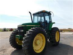 1998 John Deere 7410 High Crop MFWD Tractor