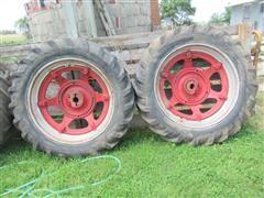 Goodyear 13.6-38 Tires & Farmall Dual Wheels & Hubs