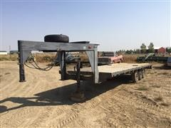 1991 Specially Constructed Tri/A Gooseneck Flatbed Trailer
