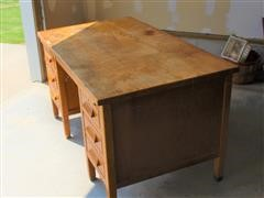 Antique Secretary Desk W/Drop Away Typewriter Table