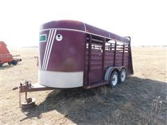 1983 Kiefer Built T/A Livestock Trailer