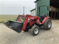 2017 Mahindra 2545 Compact Utility Tractor W/Loader