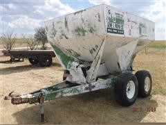 John Deere 00605 Dry Fertilizer Cart Converted To Hay Cube Feeder
