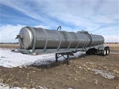 1979 Brenner MC-307 Stainless Steel T/A Tanker Trailer