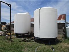 3000-Gallon Cone-Bottom Liquid Feed Tanks W/Motor & Pump