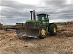1982 John Deere 8640 4WD Articulated Tractor w/ Blade