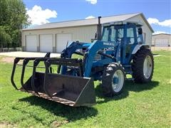 1985 Ford 7710 MFWD Tractor W/Grapple Loader