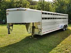1999 Sundowner Sunlite Pro Stock 2000 T/A Gooseneck Aluminum Livestock Trailer