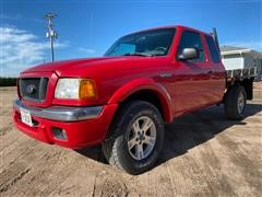 2004 Ford Ranger Extended Cab Flatbed Pickup
