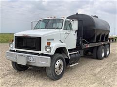 1988 GMC Brigadier T/A Flatbed Truck W/Tank