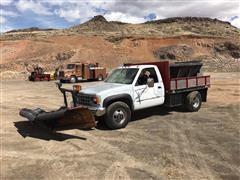 1993 Chevrolet 1-Ton 4x4 Truck W/Snow Plow & Sander