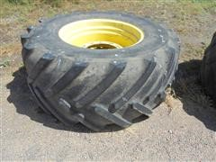 600/70R30 Michelin Tires - John Deere Rims