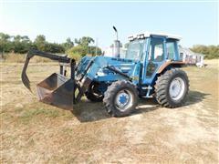 1988 Ford 5610 II MFWD Tractor W/DU-AL 200 Front End Loader