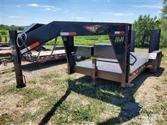 2017 H&H UF 18 2 T/A Flatbed Trailer