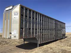 2008 Merritt Gold Line 50' T/A Livestock Trailer