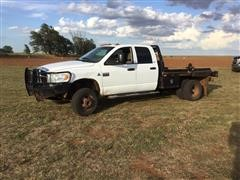 2008 Dodge RAM 3500 4x4 Crew Cab Pickup W/Cannonball Hay Bed