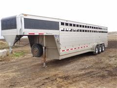 2014 EBY Maverick Tri/A Gooseneck Livestock Trailer