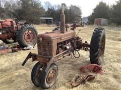 International Farmall Super H Narrow Front 2WD Tractor For Parts