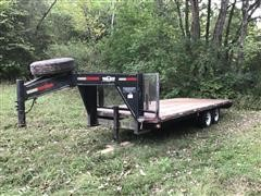 2000 Mountain Ridge GF820JX T/A Flatbed Trailer