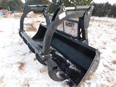 2011 Case New Holland Loader Bucket & 5 Tine Grapple Fork
