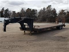 1985 Duo Lift Gooseneck T/A Flatbed Trailer