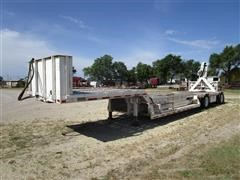 1983 Transcraft DTX18-43 T/A 43' Drop Deck KnuckleBoom Trailer