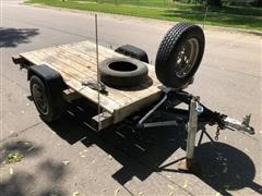 1998 Homemade S/A Flatbed Utility Trailer