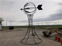 JB Custom Spinning Weather Vane Yard Ornament